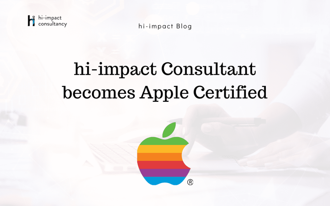 hi-impact Consultant becomes Apple Certified