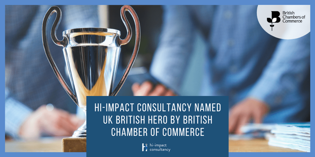 Hi-impact consultancy named UK British Hero by British Chamber of Commerce