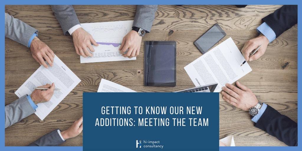 Getting to know our New Additions: Meeting the Team